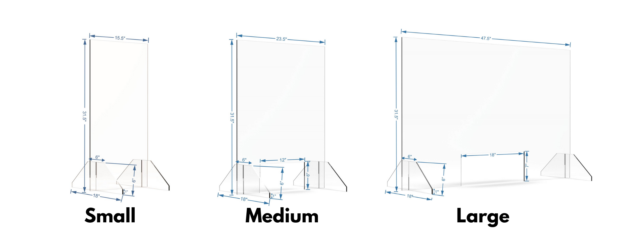 ClearGuard 3 Barriers Sm, Md, Lg